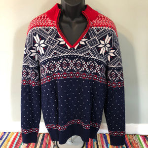 Vineyard Vines Ski Sweater Half Zip Snowflake USA